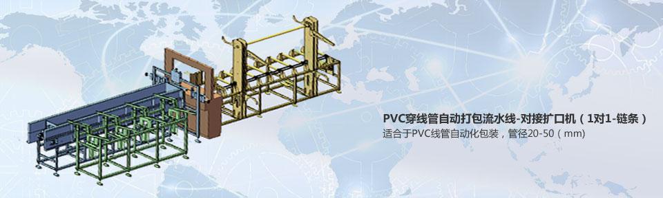 PVC穿线管自动打包流水线-对接扩口机(1对1-链条)~最新推荐