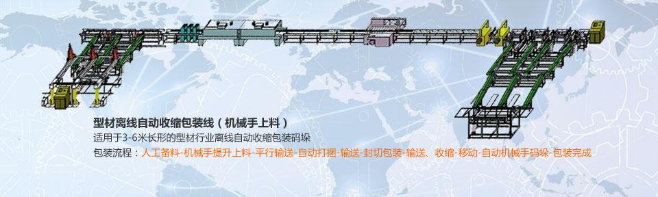 型材离线自动收缩包装线(机械手上料)~最新推荐
