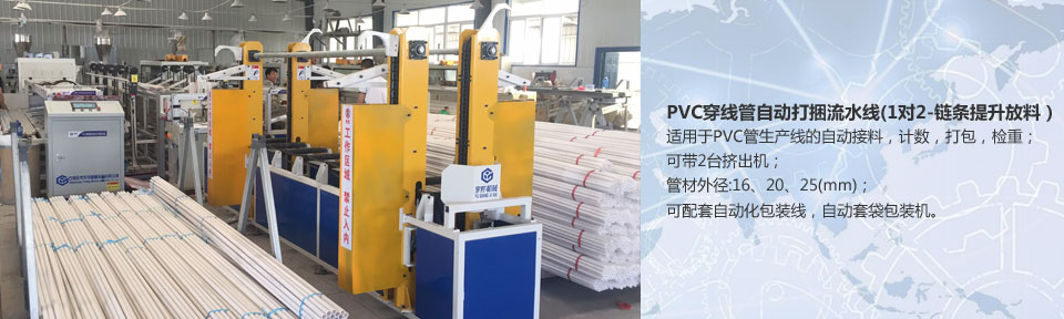 PVC穿线管自动打捆流水线(1对2-链条提升放料)~最新推荐
